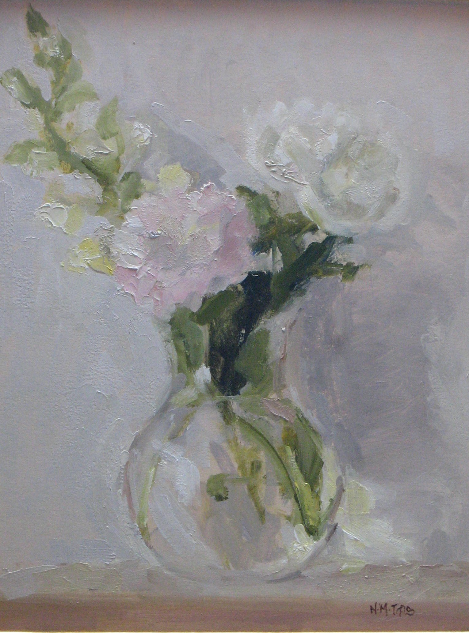 peonies and snapdragon